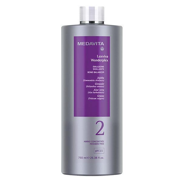 LUXVIVA WONDERPLEX Faza 2. Emulsja uszczelniająca i stabilizująca połączenia strukturalne włókien włosów pH 3.5